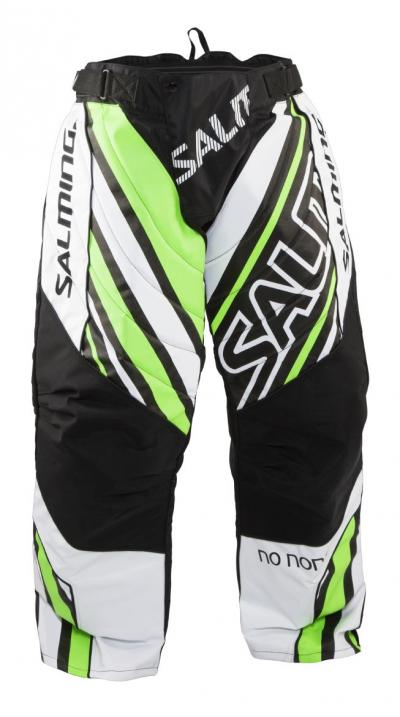 Salming Phoenix Goalie Pant JR White/GeckoGreen