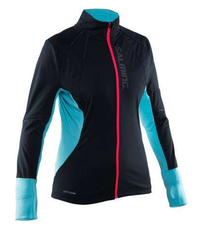 Salming Thermal Wind Jacket Women Black/Turquoise