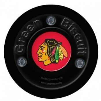 Puk Green Biscuit NHL Chicago Blackhawks Black