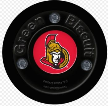 Puk Green Biscuit NHL Ottawa Senators