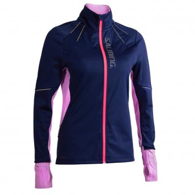Salming Thermal Wind Jacket Women Navy/Light Purple