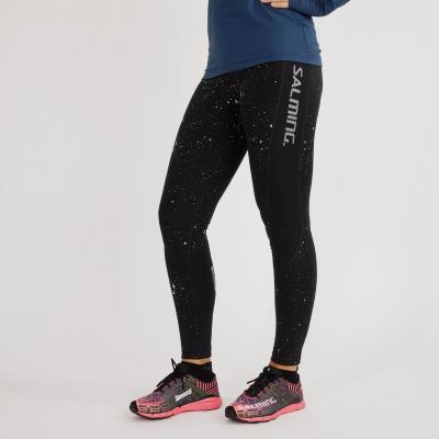Salming Reflective Tights Women Black/ Silver Reflective