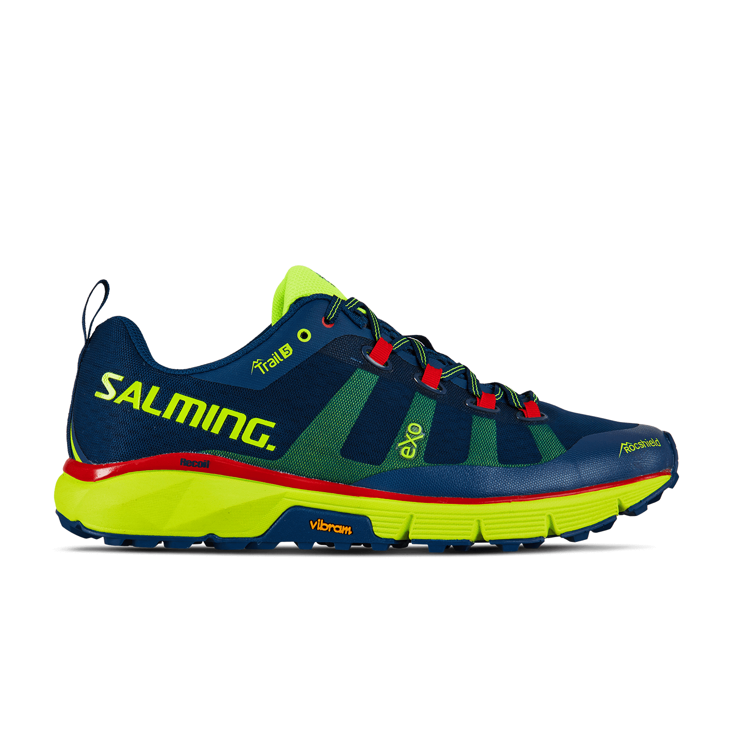 SALMING Trail 5 Shoe Men Poseidon Blue/Safety Yellow
