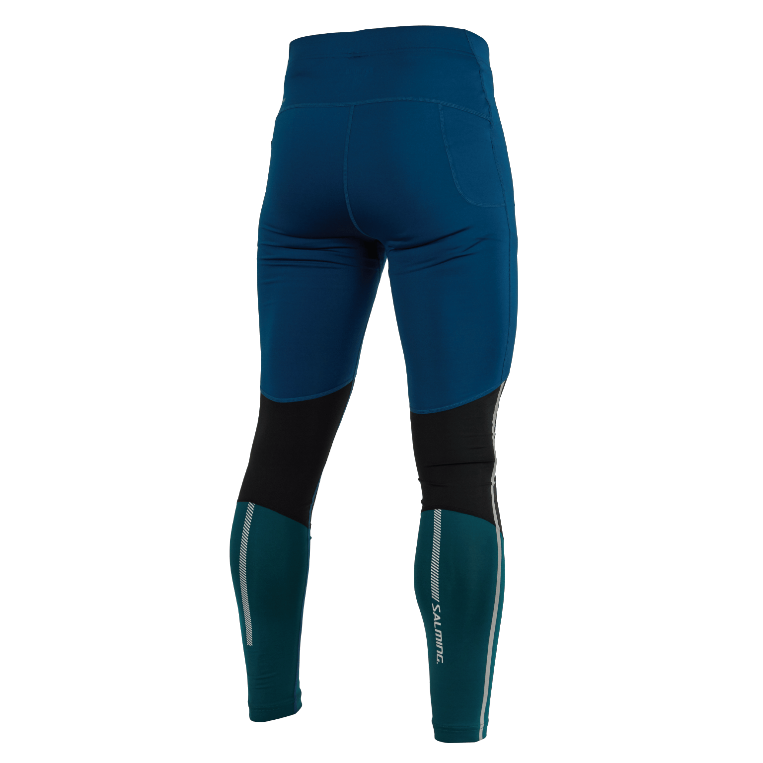 SALMING Run Grand Tights Men Posiedon Blue/Black/Deep Teal