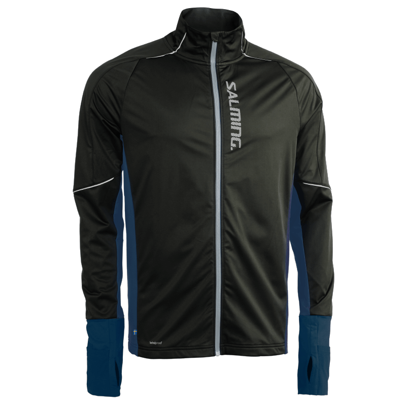 SALMING Run Thermal Wind Jacket Men Black/Blue Melange